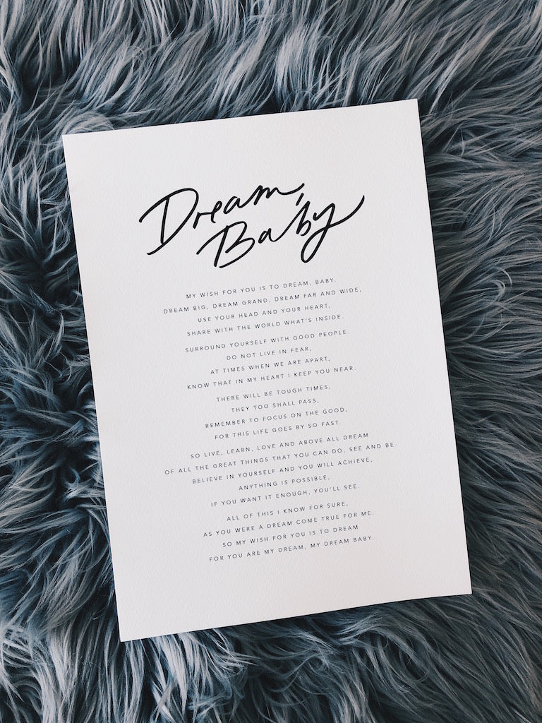DREAM, BABY | Onesie + Print Gift Packs