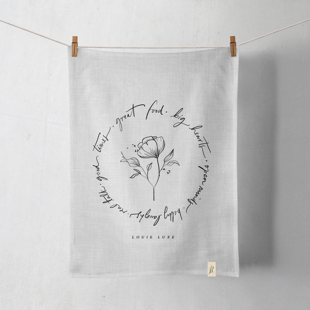 LL Poetry Tea Towels