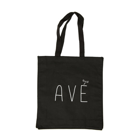 Black Cotton Tote Bag