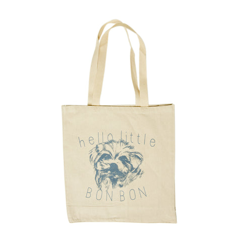 Dog in Natural Cotton Tote Bag