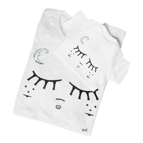 Sleeping Baby Mommy Tee + Baby Onesie Set