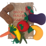 Brooklyn Farmers Market Felt Fruits + Veggies Set