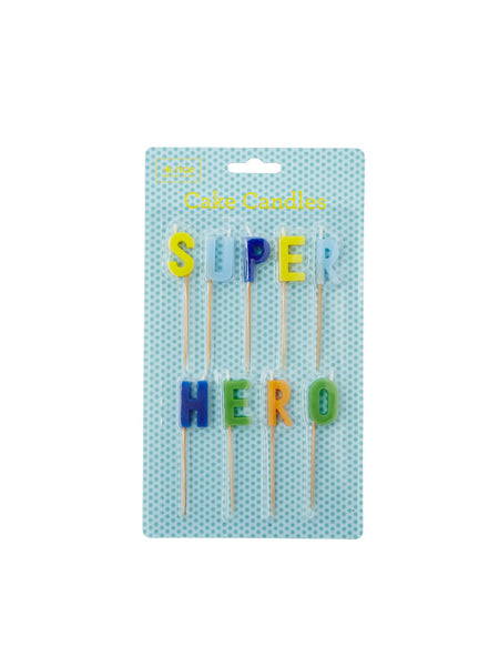 Super Hero cake candles