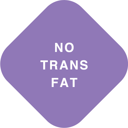 Diamond image that reads no trans fat