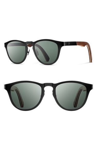 'Francis' 49mm Polarized Titanium & Wood Sunglasses - MansMan Supply Co  - 1