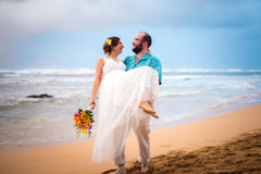 Elopement & Trash The Dress on Kauai's North Shore