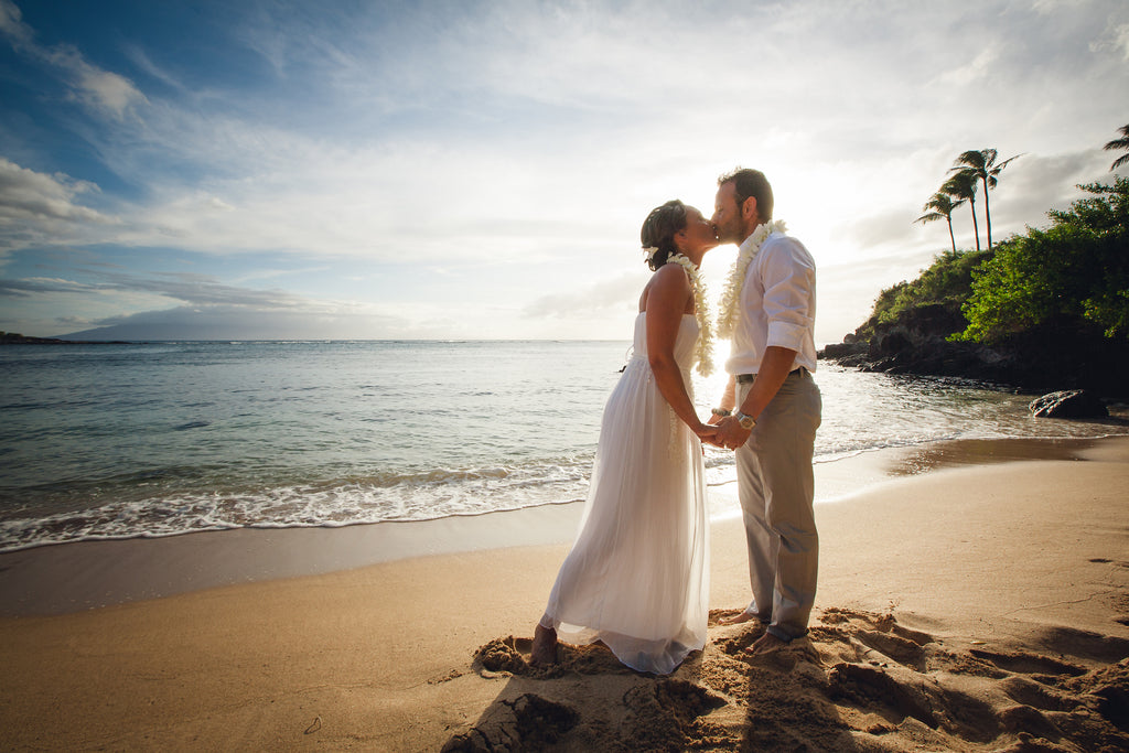 Monica & Davide Marry at Kapalua Bay Beach, Maui