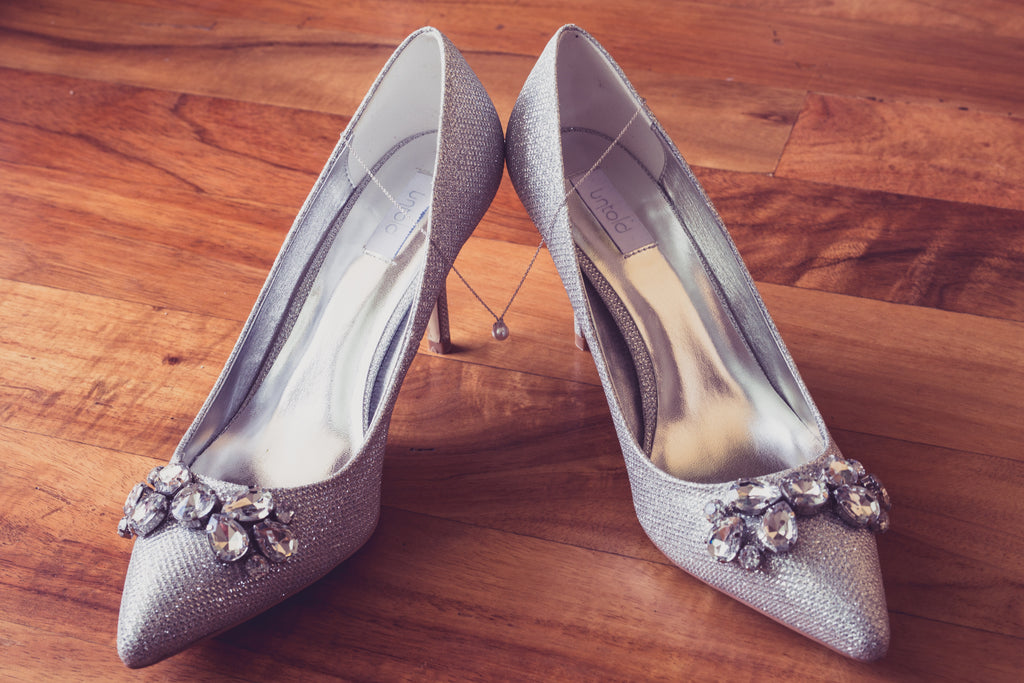 Brides Silver Wedding Shoes