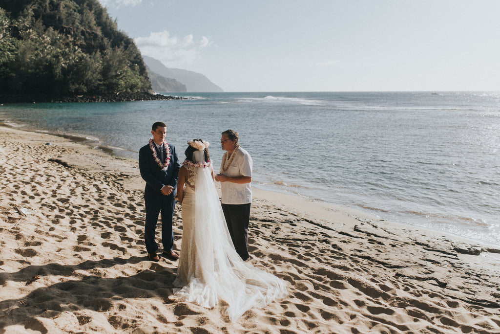 Wedding at Ke'e Beach, Kauai