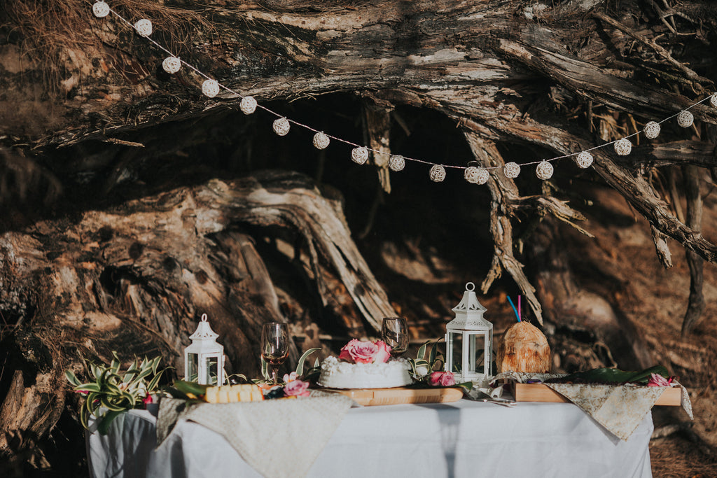 Picnic Wedding Setup, Kauai