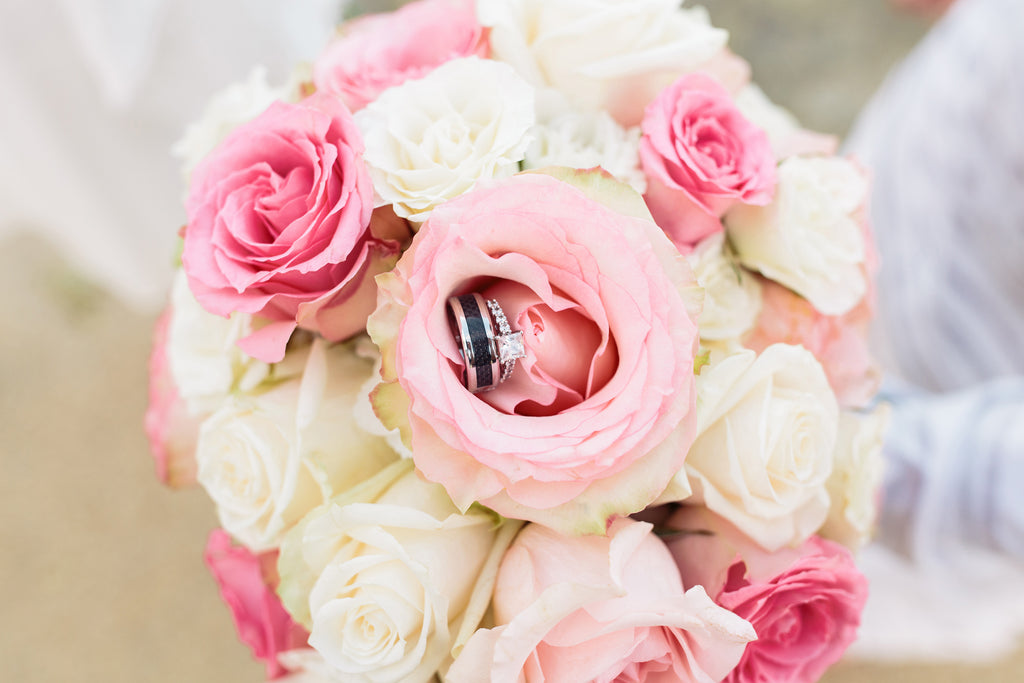 Beautiful Hawaii Bride Rose Bouquet