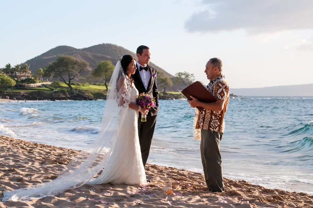 A Bride and Groom get Married on the Beach in Hawaii