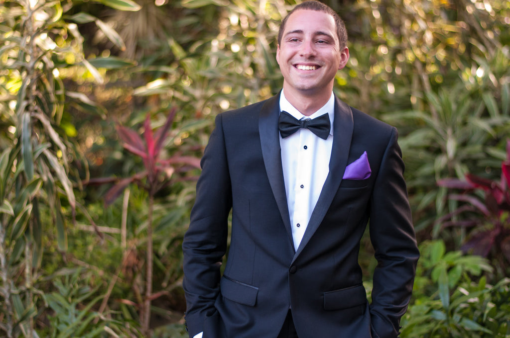 A Groom smiles before his Wedding in Maui