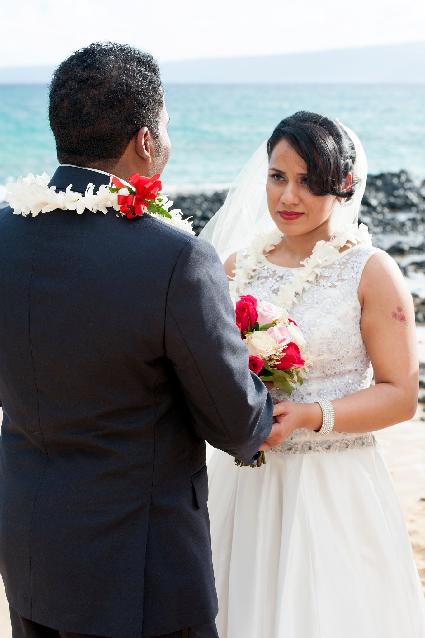 Bride and Groom marry in Makena, Maui