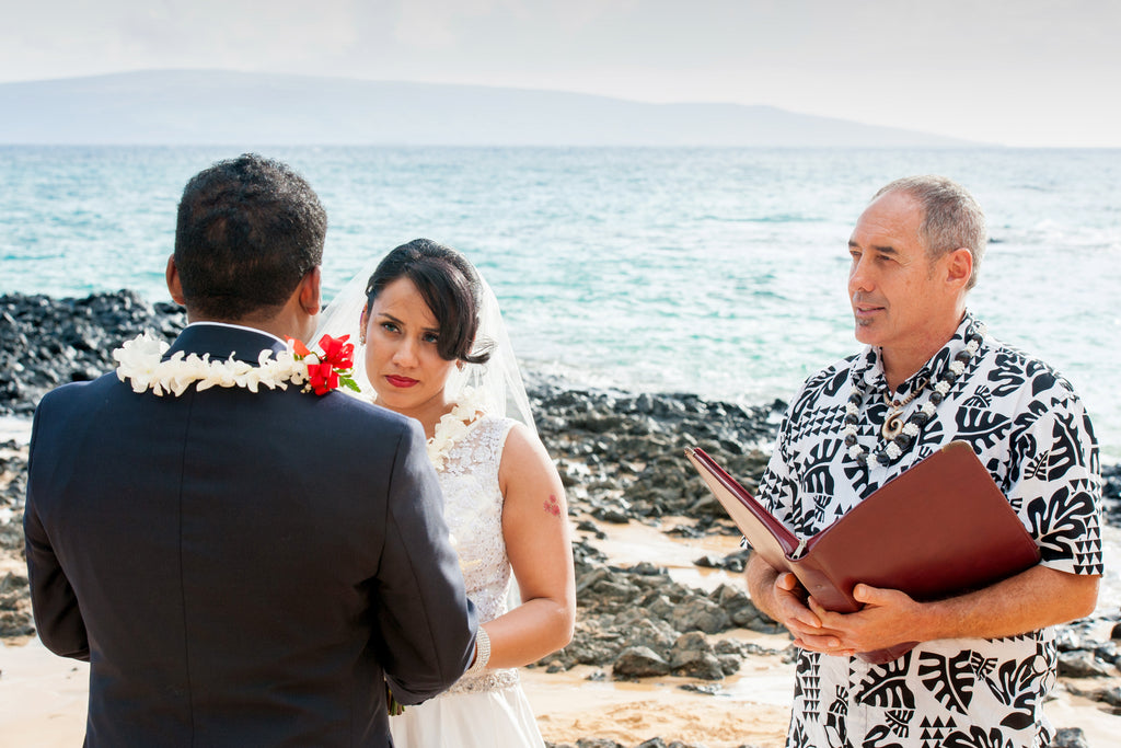 Bride and Groom say their Vows in Maui, Hawaii