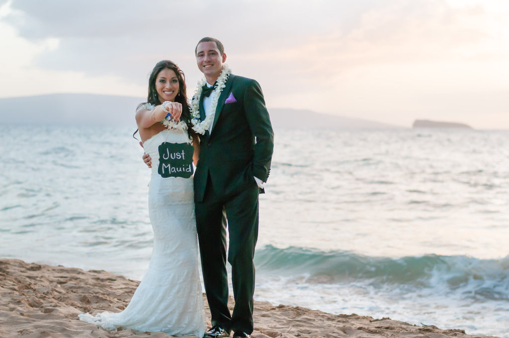 Ashley & Robert Marry in Maui, Hawaii