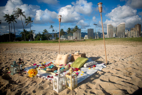 """The Picnic Proposal"" Engagement Package , Event Packages - Hawaii Weddings, Married with Aloha, Hawaii - 18"