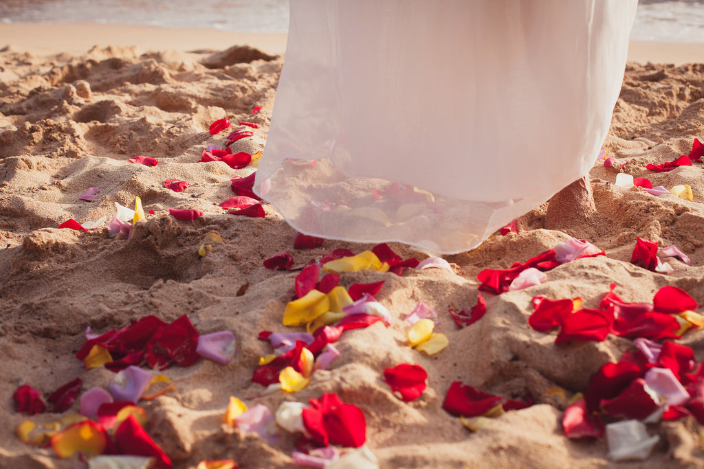 Aisle of Fresh Rose Petals | Hawaii Beach Weddings & Elopements | Married with Aloha, LLC