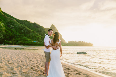 Tunnels Beach | North Kauai | Hawaii Beach Weddings & Elopements | Married with Aloha, LLC