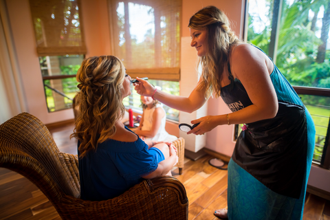 In-Room Hair and Makeup | Hawaii Beach Weddings & Elopements | Married with Aloha, LLC
