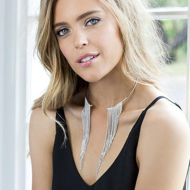 Lucia Statement Necklace Silver - Blush & Co. Rose Gold Jewellery Australia