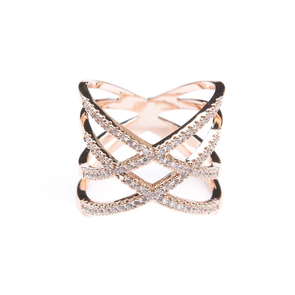 Brooklyn Rose Gold Statement Ring - Blush & Co.