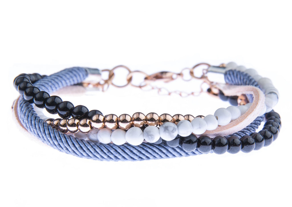 Blush Denim Layered Bracelet