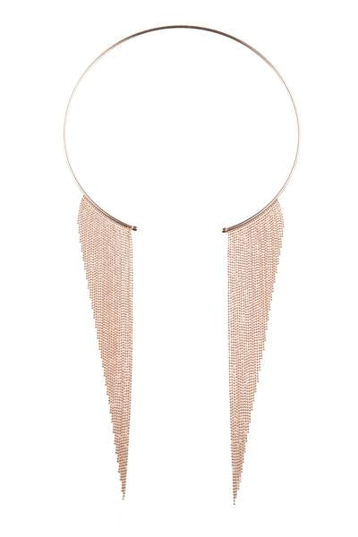 Lucia Statement Necklace Rose Gold