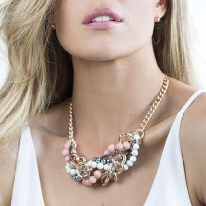 Blush In Bloom Statement Necklace - Blush & Co. Rose Gold Jewellery Australia
