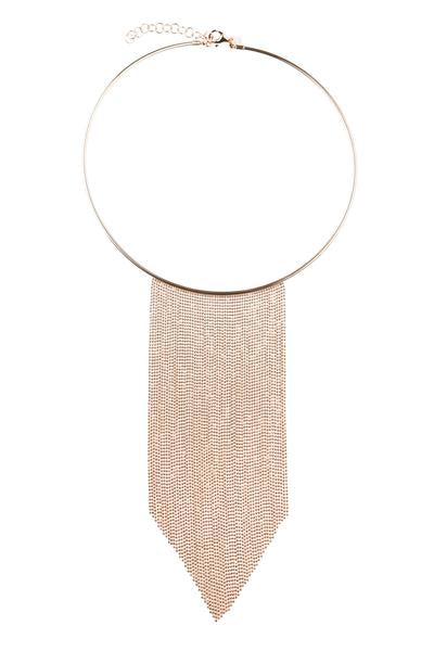 Valentina Statement Necklace Rose Gold - Blush & Co. Rose Gold Jewellery Australia