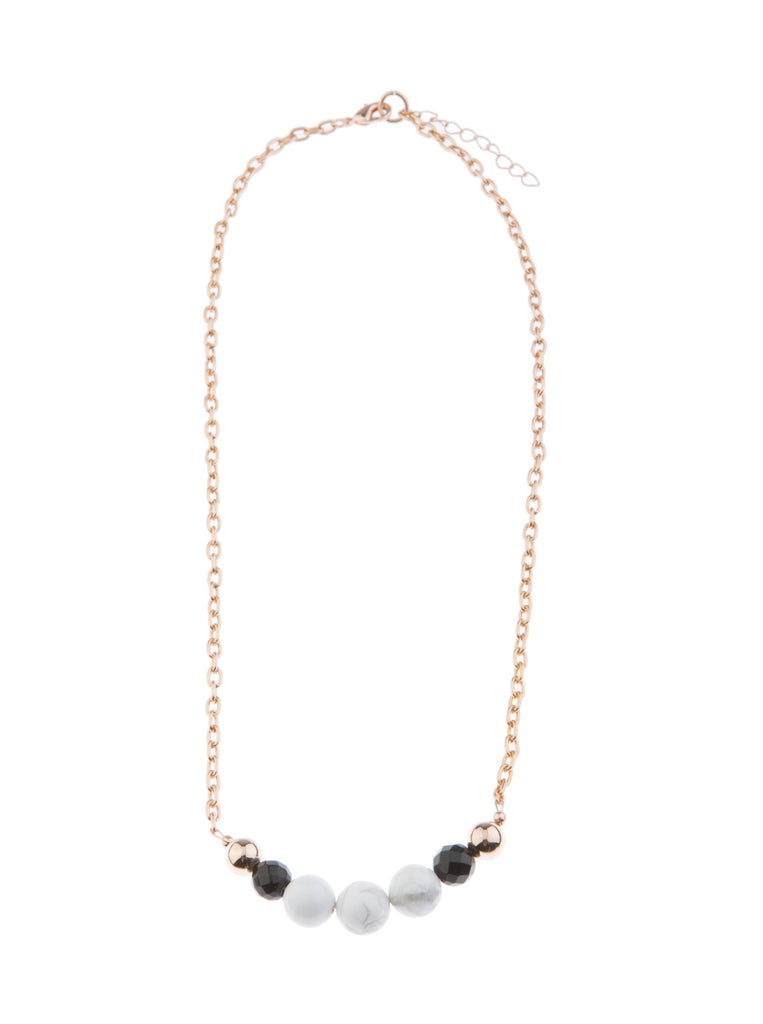 Marble on Blush Howlite Necklace - Short - Blush & Co. Rose Gold Jewellery Australia