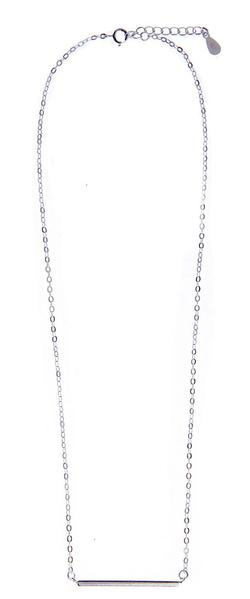 Bar Chain Necklace - Silver - Blush & Co.