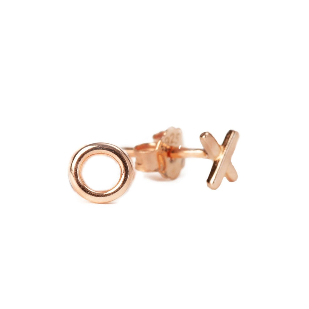 X & O Studs - Rose Gold - Blush & Co.