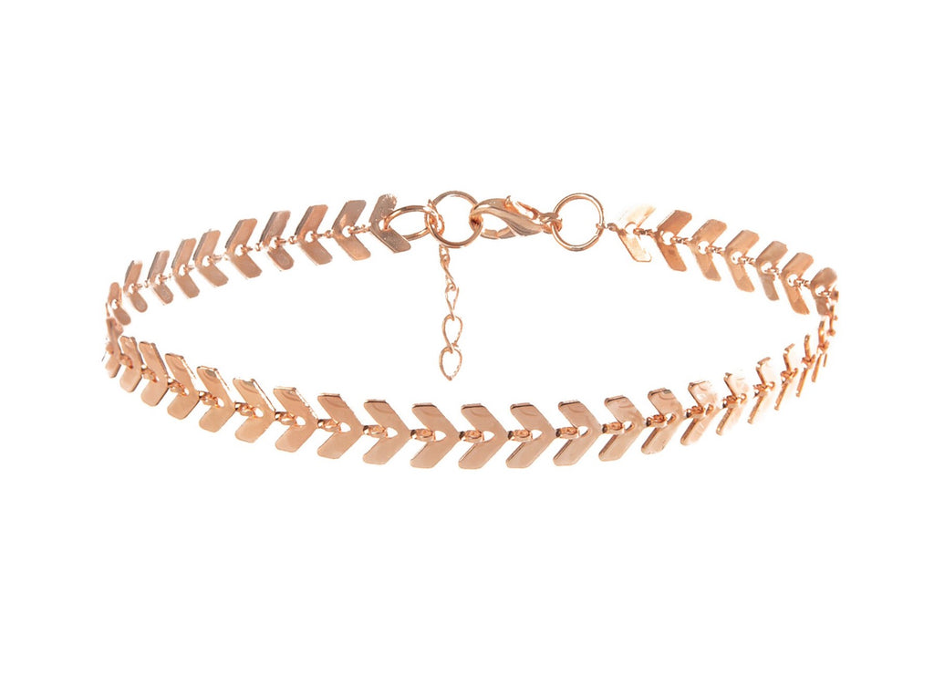 Chevron Rose Gold Bracelet - Blush & Co.