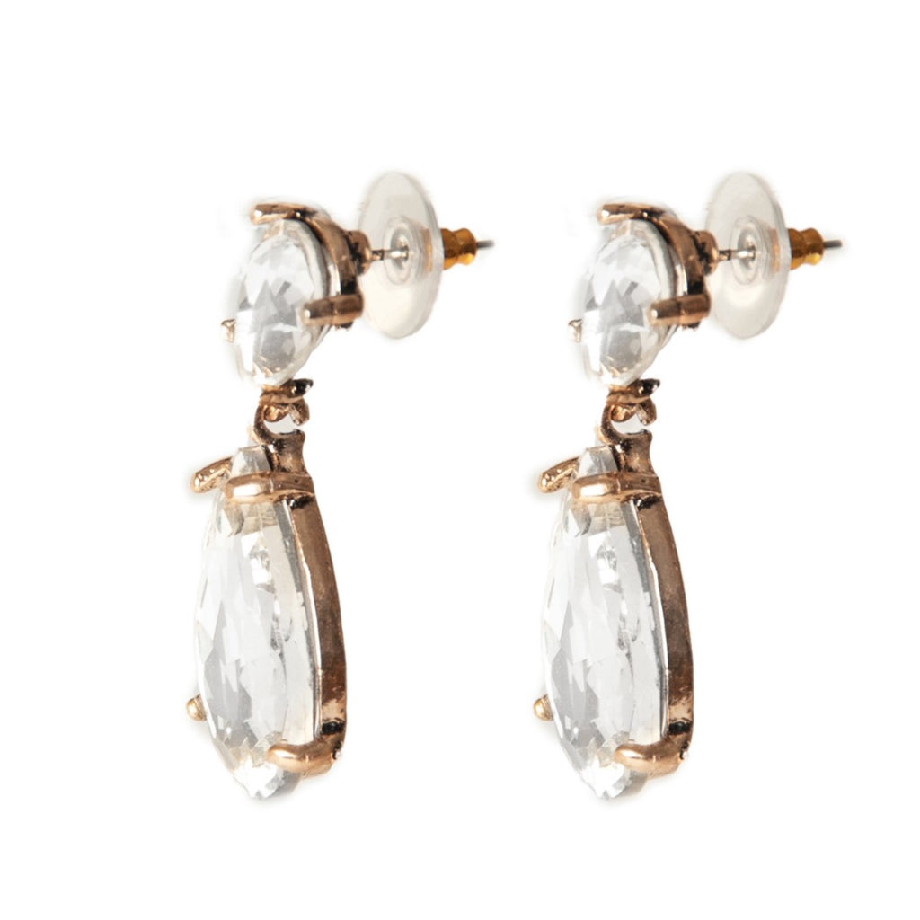 Crystal Teardrop Statement Earrings - Blush & Co.