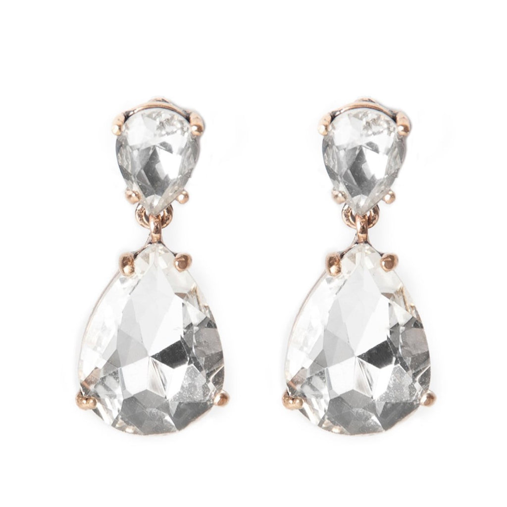 Crystal Teardrop Statement Earrings - Blush & Co. Rose Gold Jewellery Australia