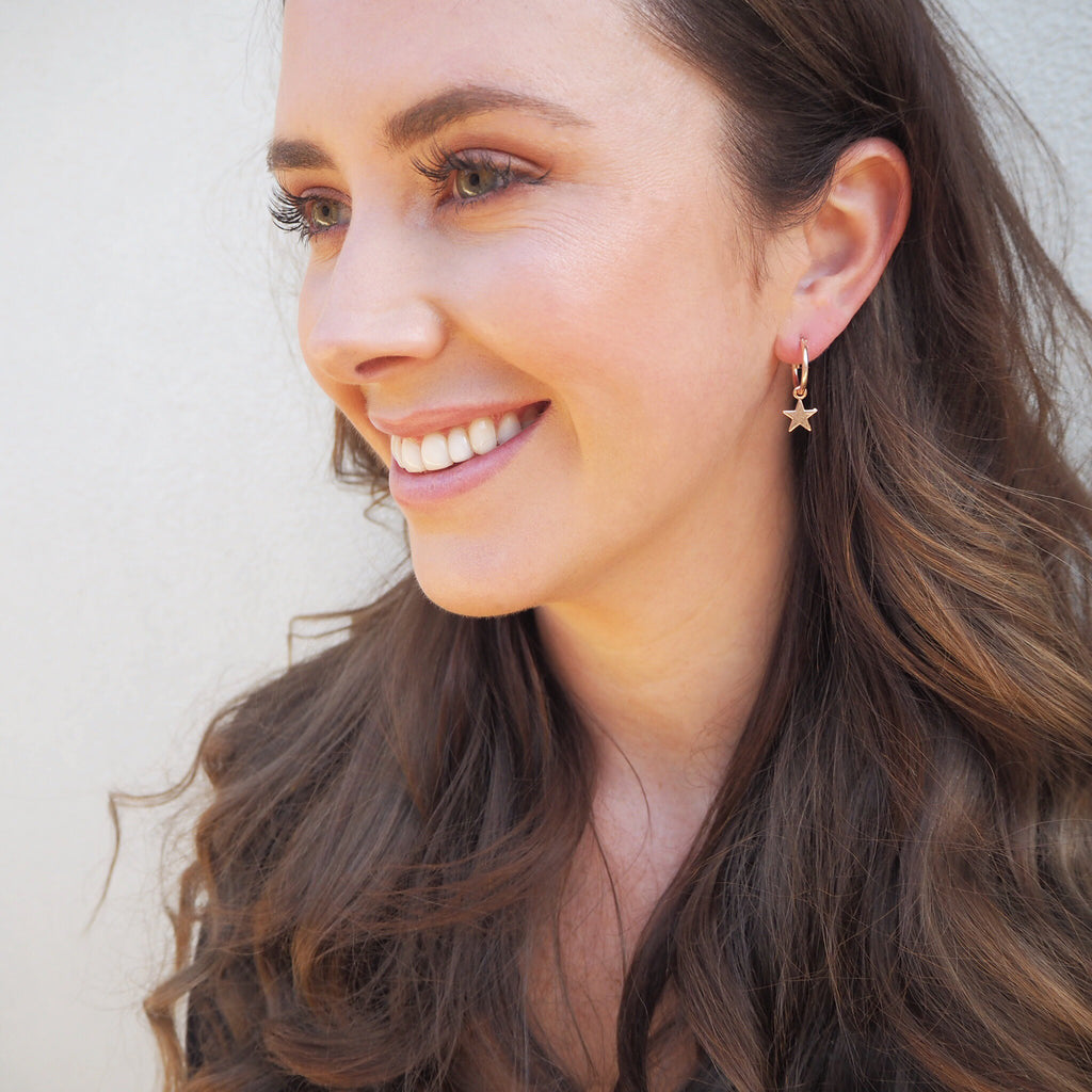 Spirit Charm Hoop Earrings - Blush & Co.