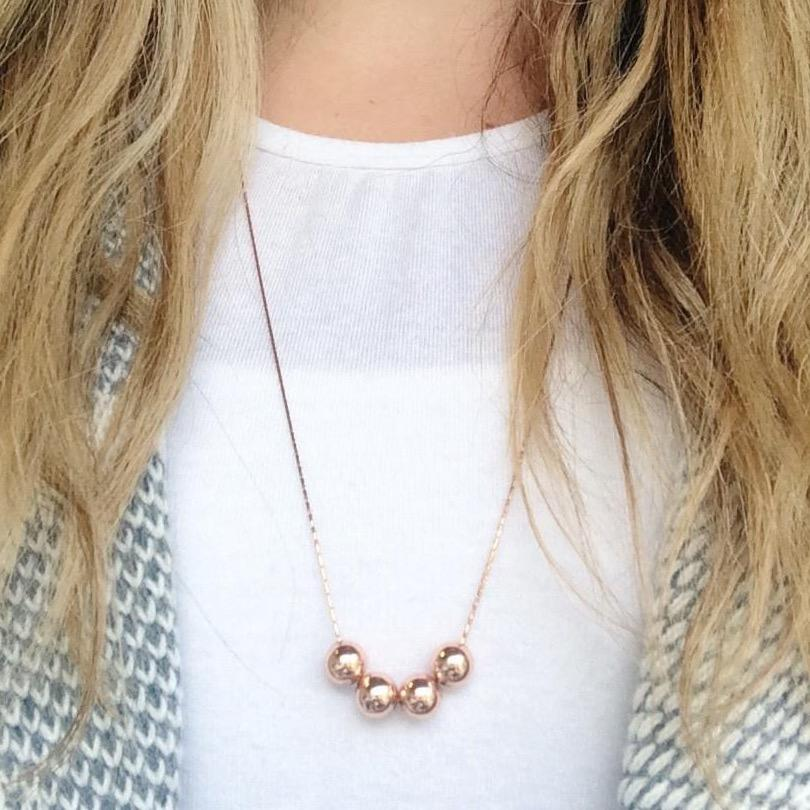 Blush of Simplicity Rose Gold Necklace - 70cm - Blush & Co.