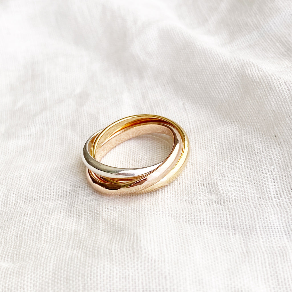 Tri-Tone Band Ring - Blush & Co.