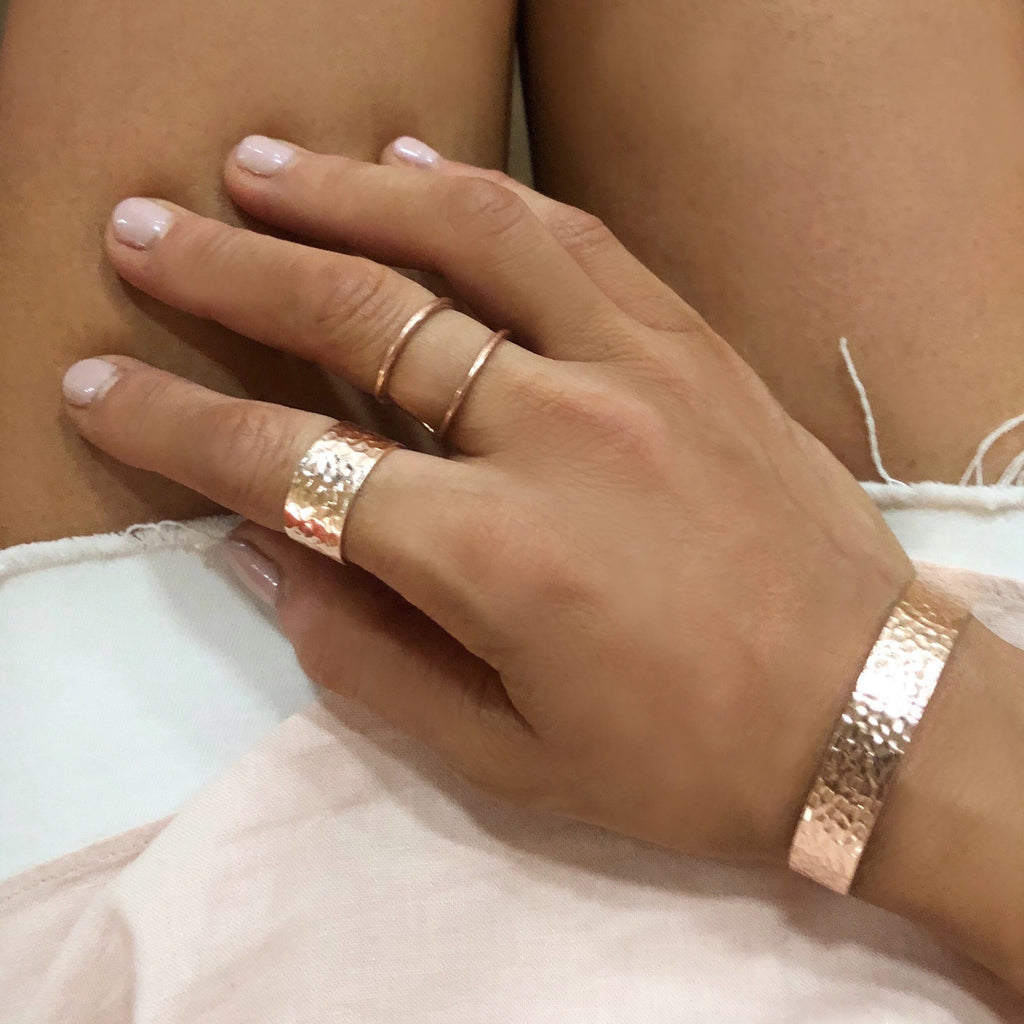 Rose Gold Band Ring - Blush & Co.