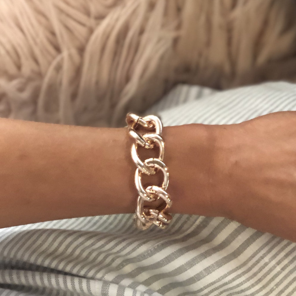 Jaxon Rose Gold Bracelet - Blush & Co.