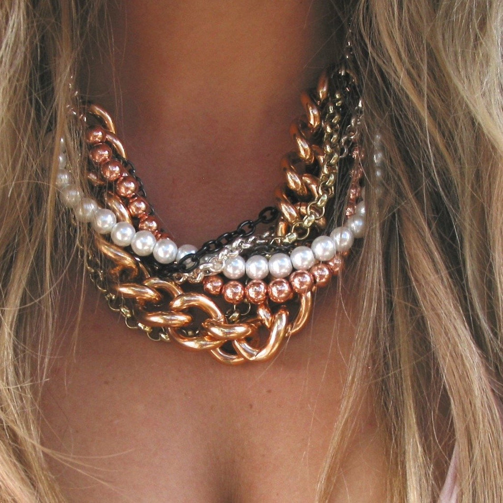 At First Blush Statement Necklace - Blush & Co.