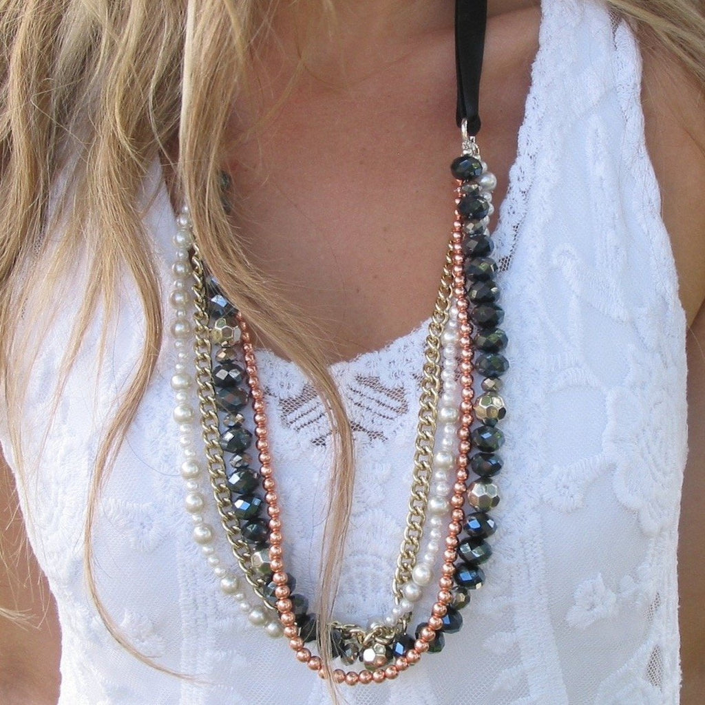Blush by Day or Night Statement Necklace - Blush & Co. Rose Gold Jewellery Australia