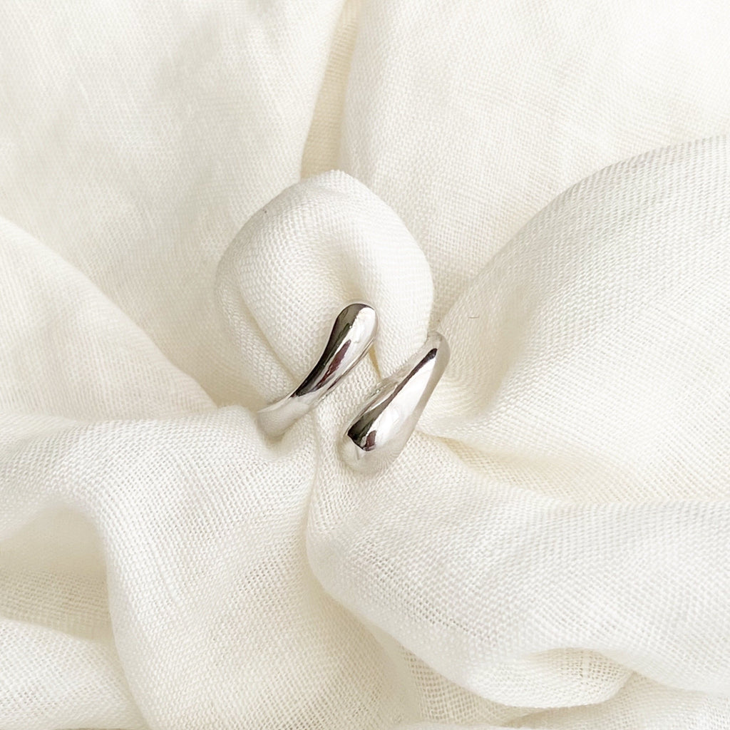 Water Drop Ring - Silver - Blush & Co.