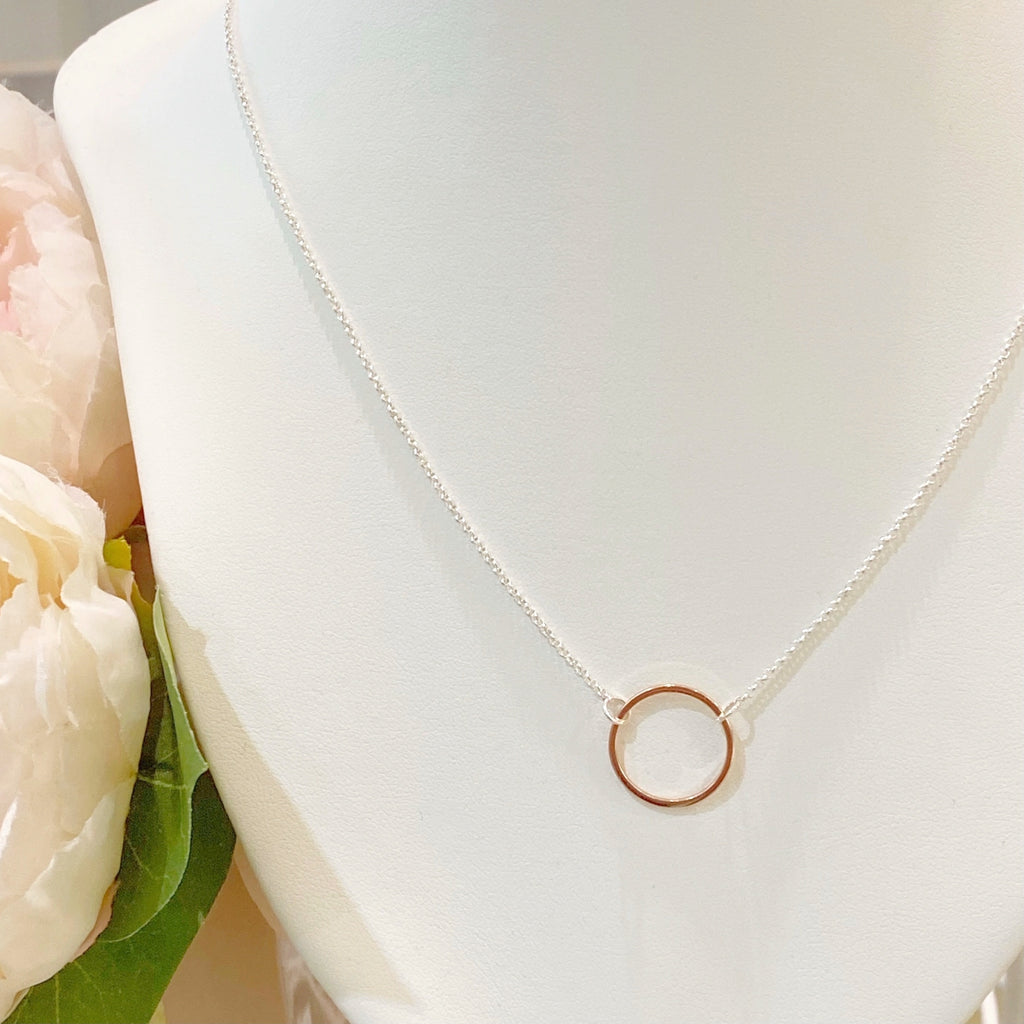 Open Circle Necklace - Blush & Co. Rose Gold Jewellery Australia