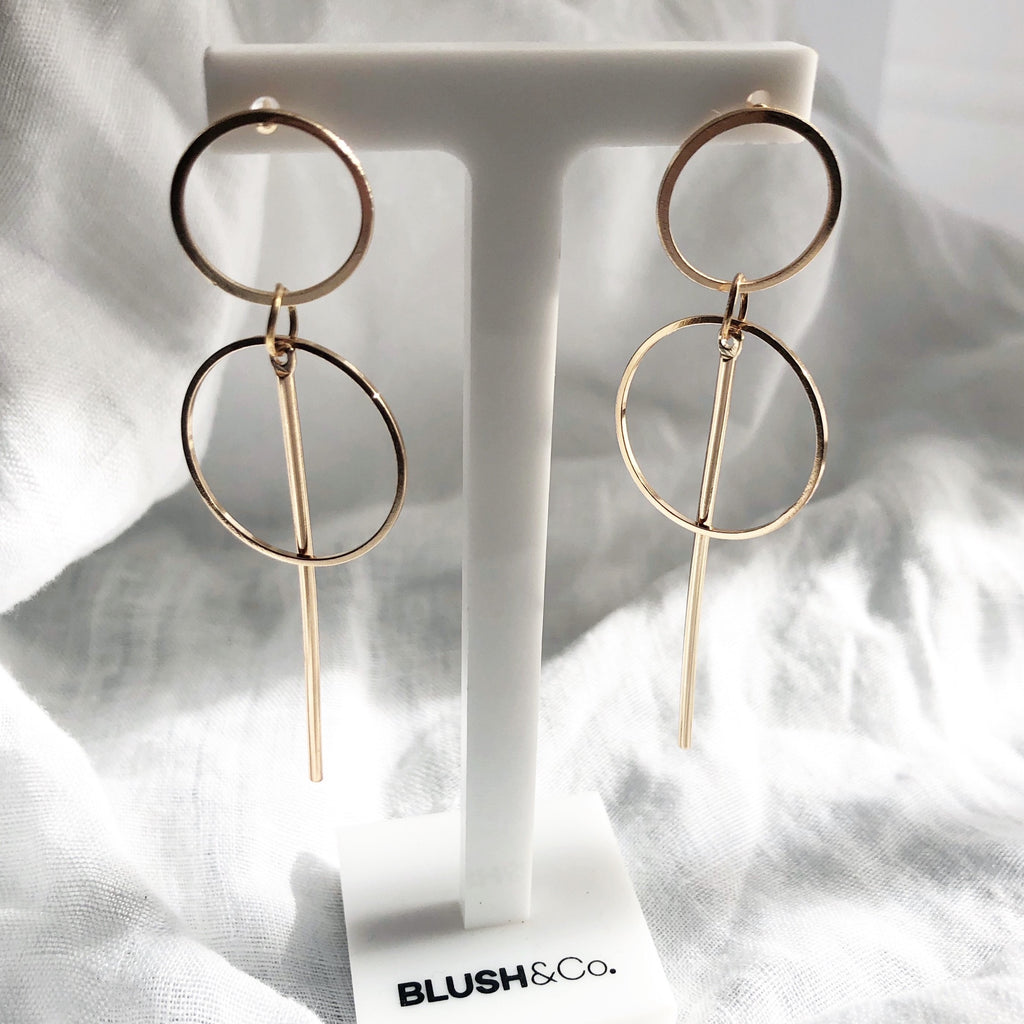 Renee Gold Drop Earrings
