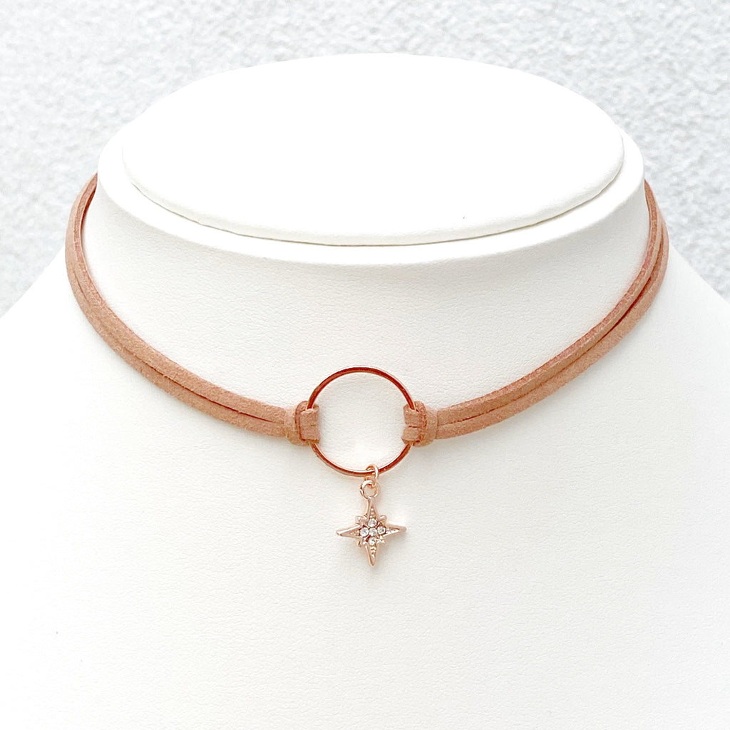 Celeste Suede Choker - Blush & Co.
