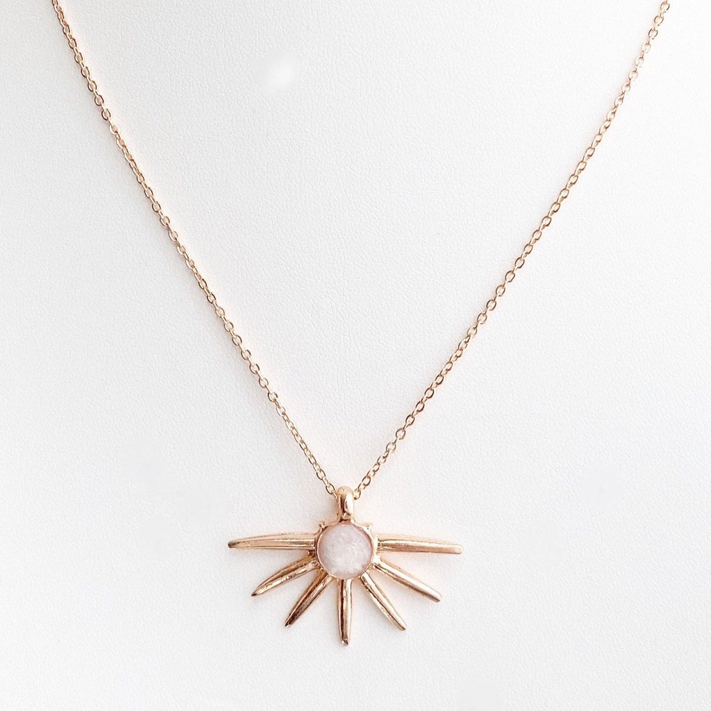 Sun Pendant Necklace - Blush & Co. Rose Gold Jewellery Australia