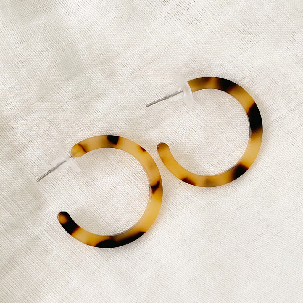 Leopard Hoop Earrings - Small - Blush & Co.