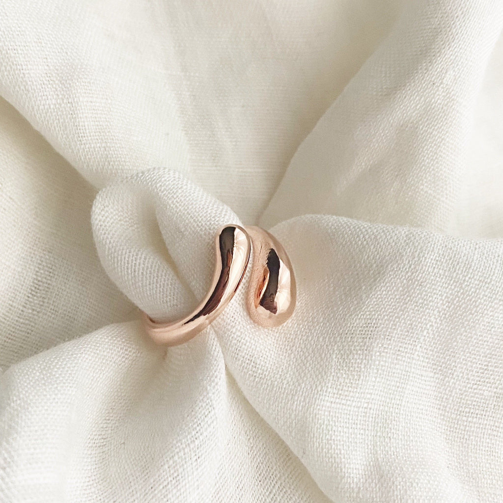 Water Drop Ring - Rose Gold - Blush & Co.
